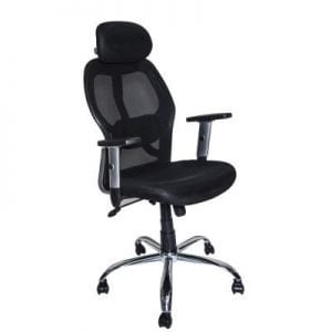 BDI TC-223 Black Leather Computer Office Chair