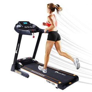 PowerMax Fitness TDM-125S 2HP (4HP Peak) Motorized Treadmill