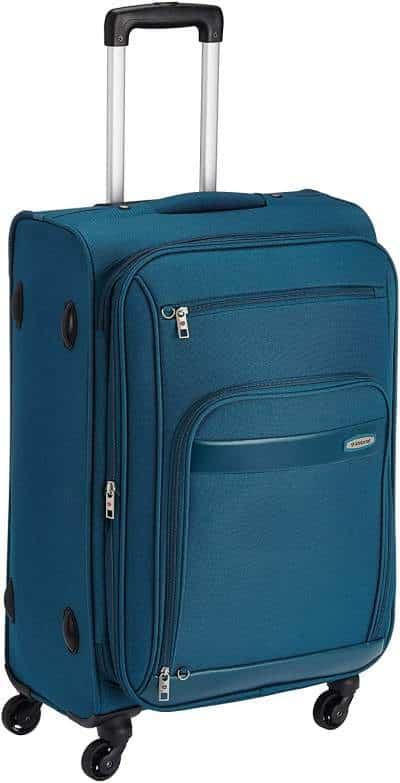 Aristocrat Polyester Blue Soft Sided Suitcase (STVEYWH66BLU)