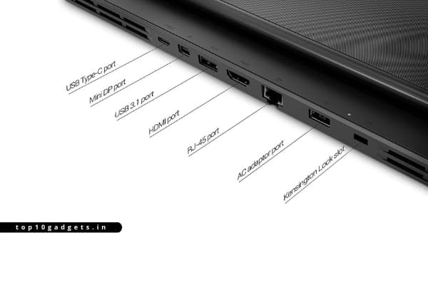 Best Gaming laptop under 80000 with i7 processor IO ports