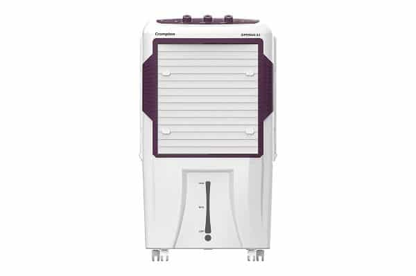 Crompton Optimus 65-Litre Inverter Compatible and Portable Desert Air Cooler with Wide Angle Air Throw (White)