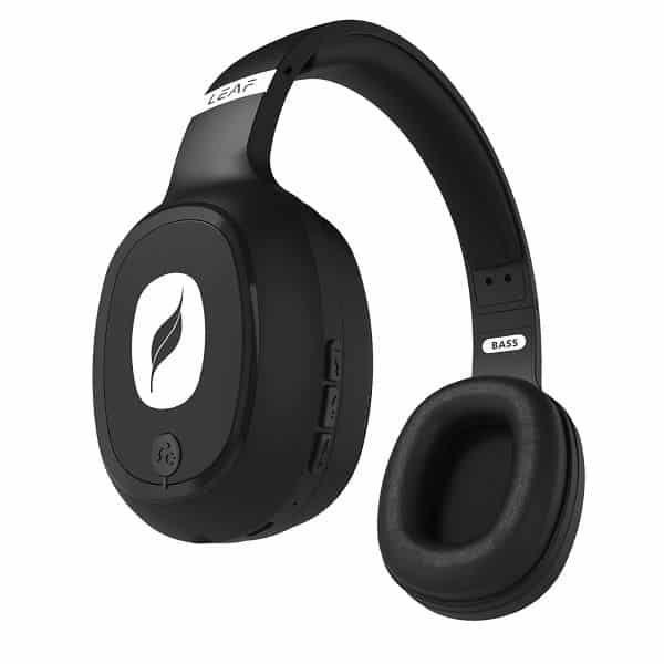 Leaf Bass Wireless Bluetooth Headphones with Hi-Fi Mic and 10 Hours Battery Life, Over Ear Headphones with Super Soft Cushions and Deep Bass