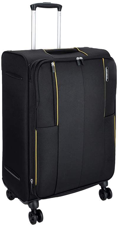 Samsonite Kenning Polyester 66 cms Black Softsided Check-in Luggage