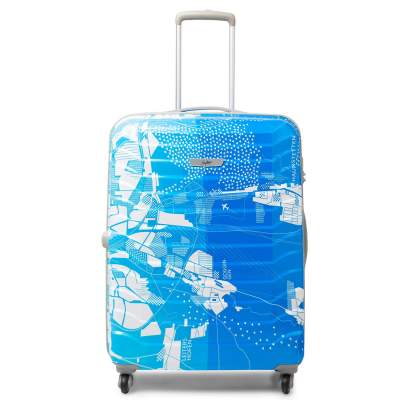 Skybags Polycarbonate 55 cms Blue Hardsided Cabin Luggage