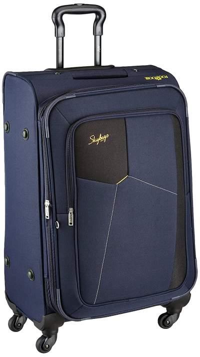 Skybags Rubik Polyester Blue Softsided Luggage (STRUW68EBLU)