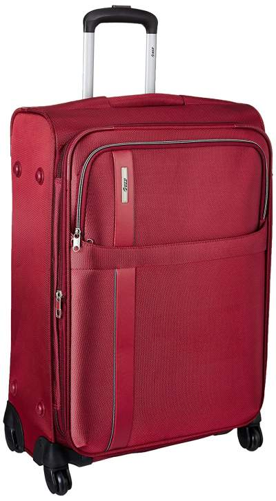 VIP Tryst Polyester Crimson Red Softsided Cabin Lightweight Luggage (STTRYW55CRD)