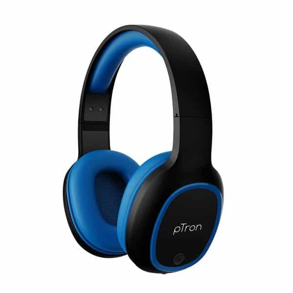 pTron Studio Over-Ear Bluetooth 5.0 Wireless Headphones, Hi-Fi Sound with Deep Bass, 12Hrs Playback,